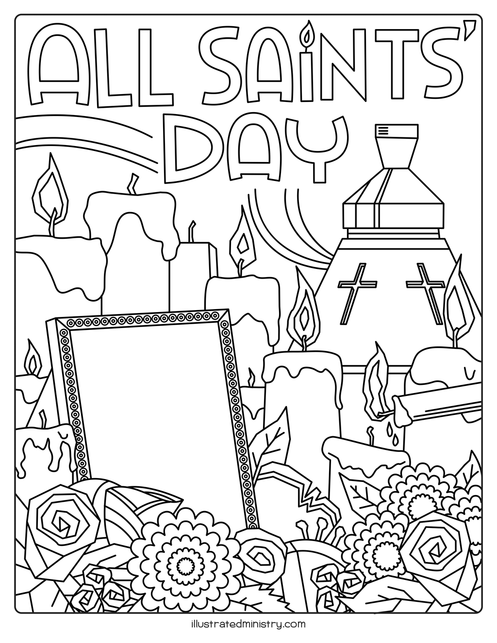 All Saints' Day Children's Coloring Page