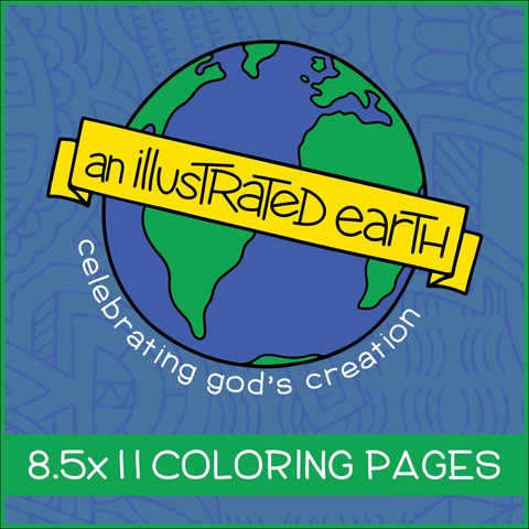 Illustrated Earth Coloring Pages (8.5x11)