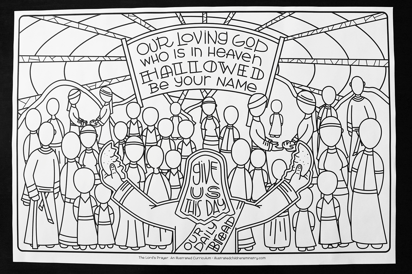Coloring poster for the Lord's Prayer