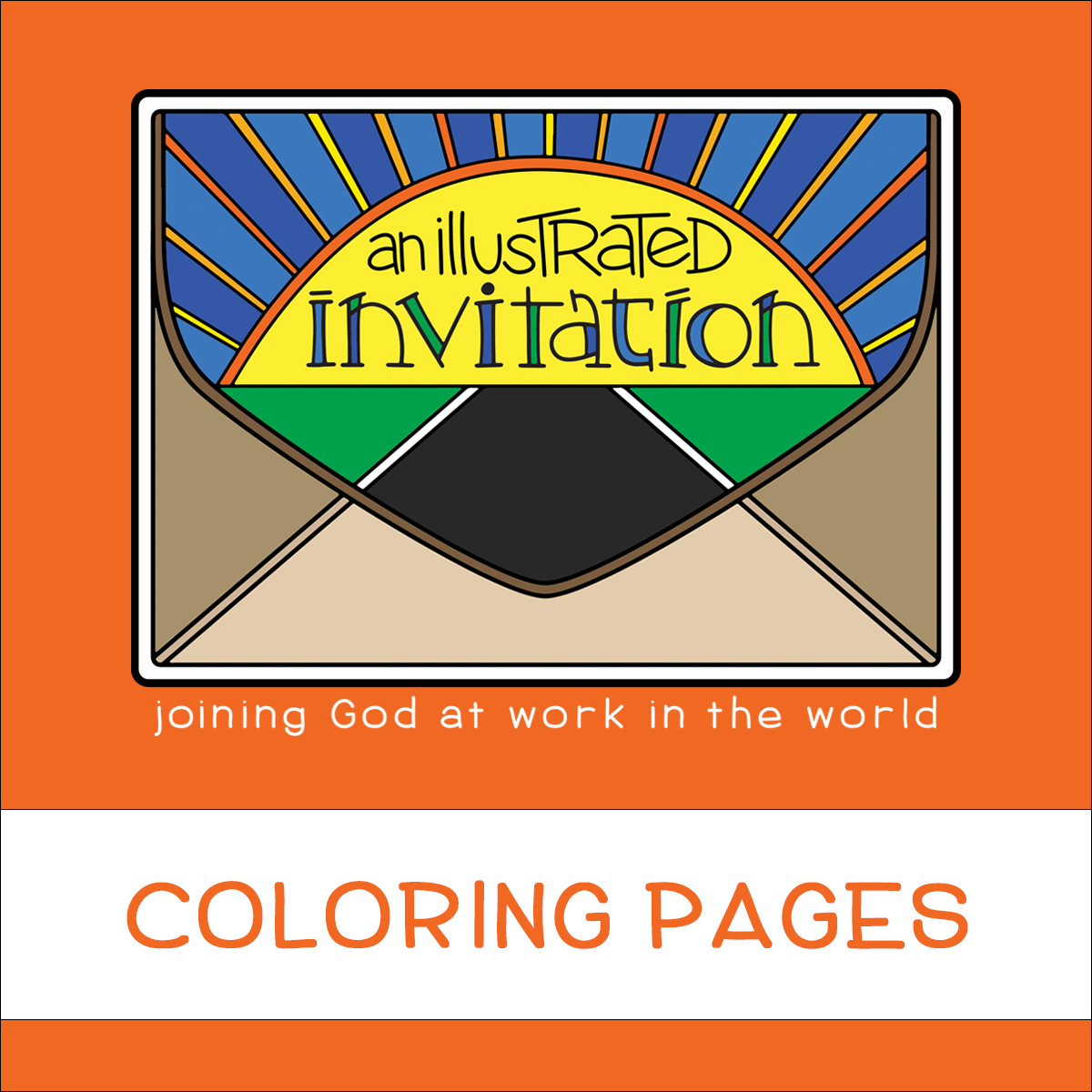 Illustrated Invitation Coloring Pages