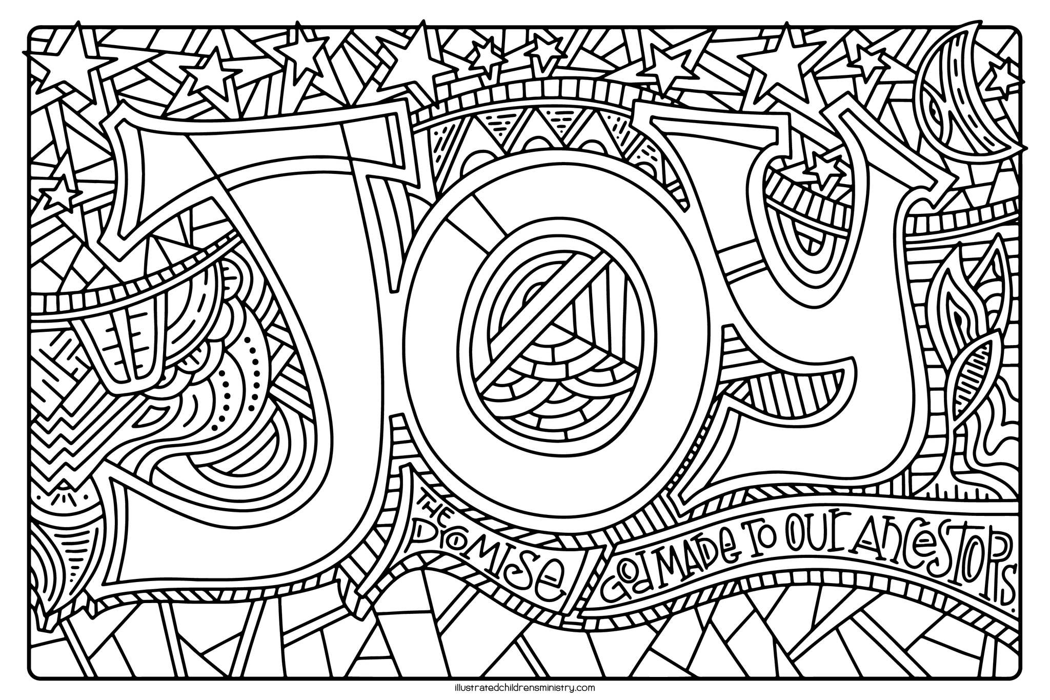 Mary's Song Coloring Page - Joy