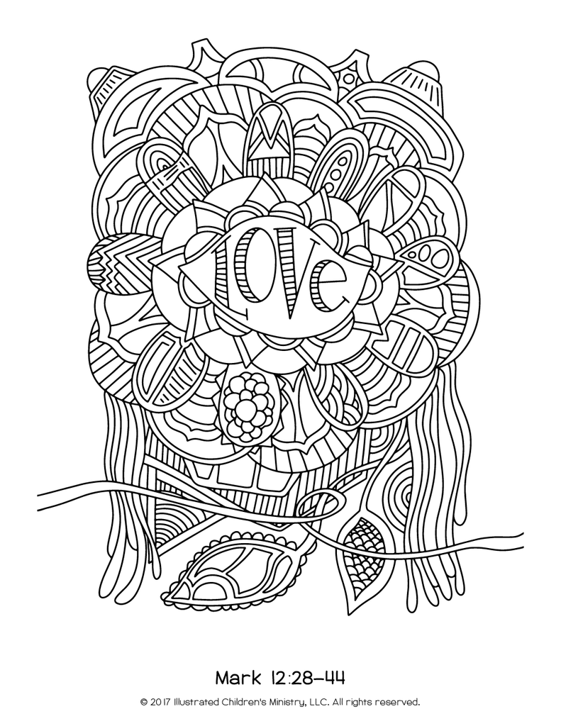 Lenten Coloring Sheets 85x11 2016 Illustrated