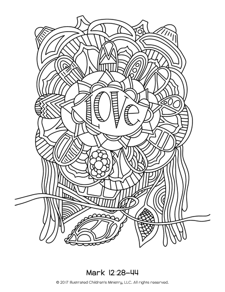 Lenten Coloring Pages - 8.5x11 (2016)