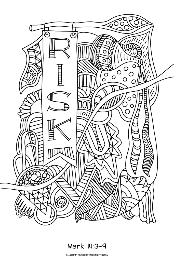 Lenten Coloring Posters (2016) – Illustrated Children\'s Ministry