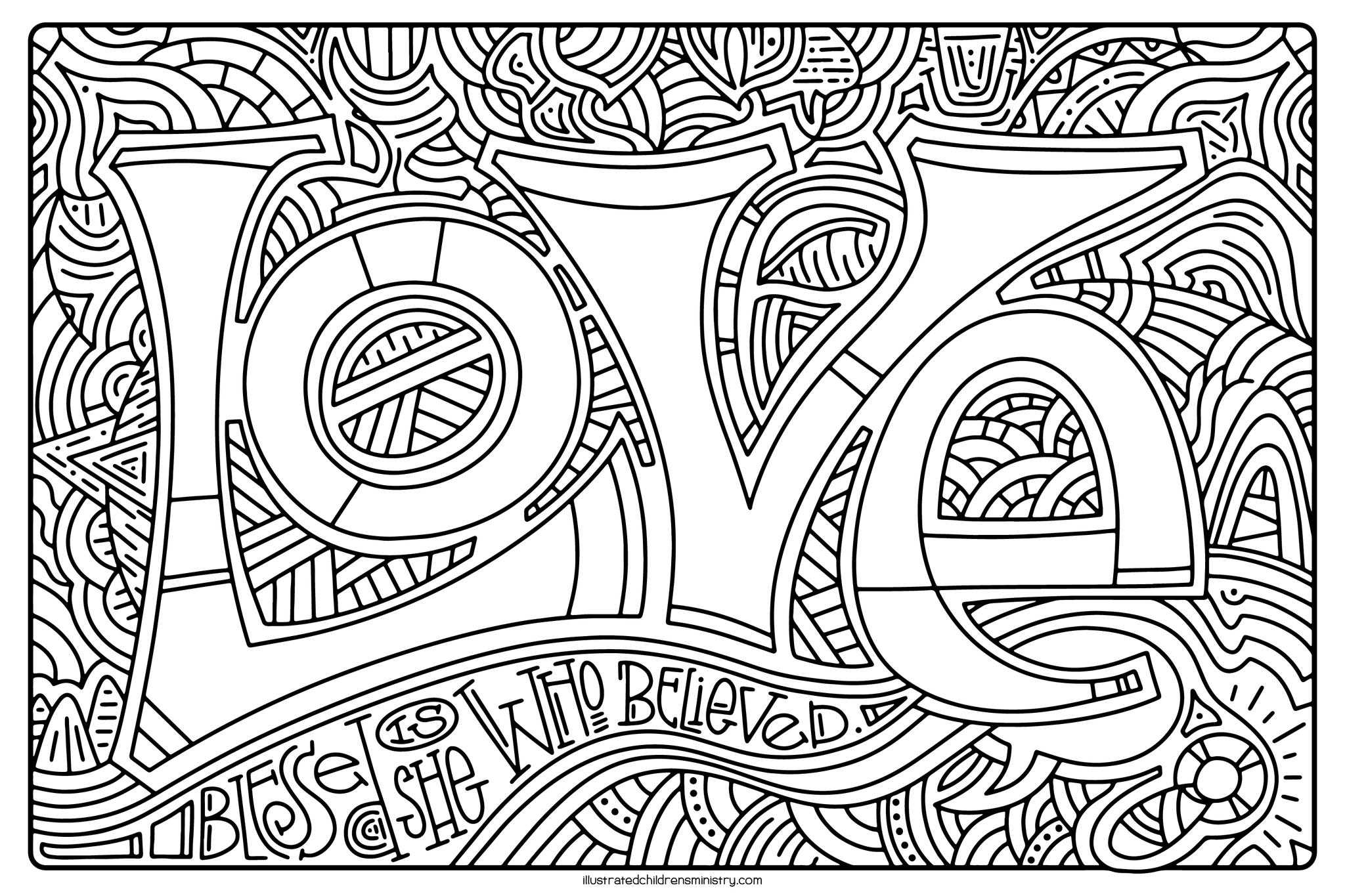 Mary's Song Coloring Page - Love