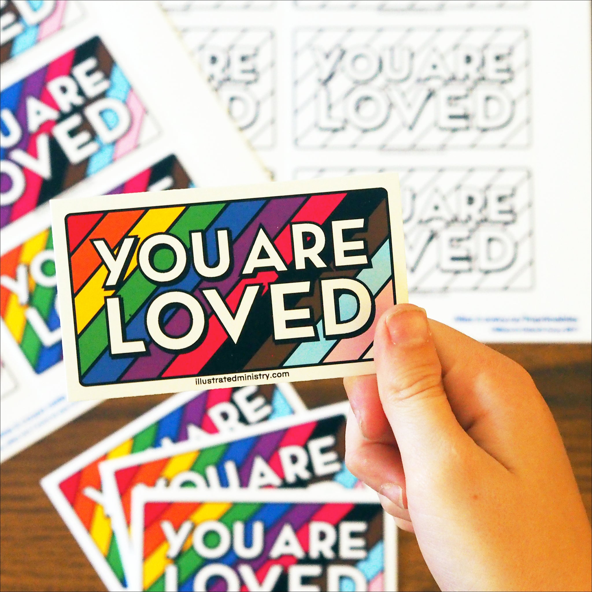 """You Are Loved"" Backpack Tags"