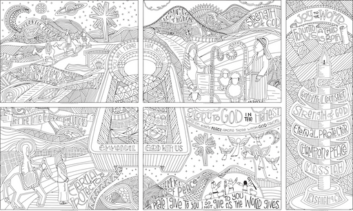 Names of the Messiah coloring poster collection
