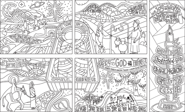 2016 Advent Coloring Sheets - 8.5x11