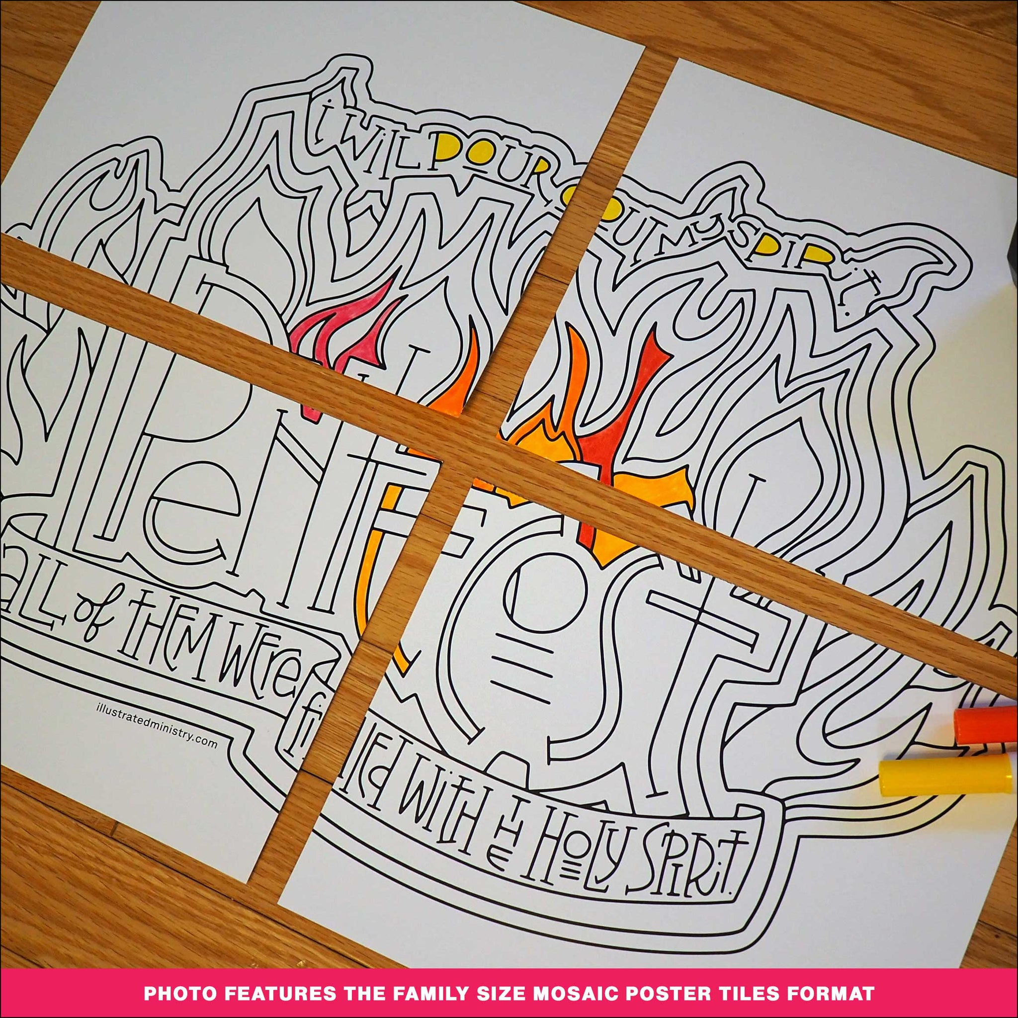 Pentecost Coloring Page & Poster