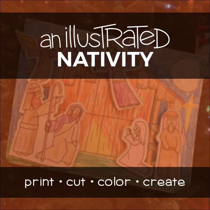 Make-your-own Nativity scene activity