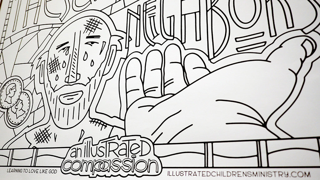 Illustrated Compassion Coloring Posters – Illustrated Children\'s ...
