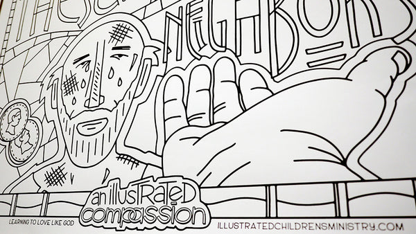 Illustrated Compassion Coloring Posters