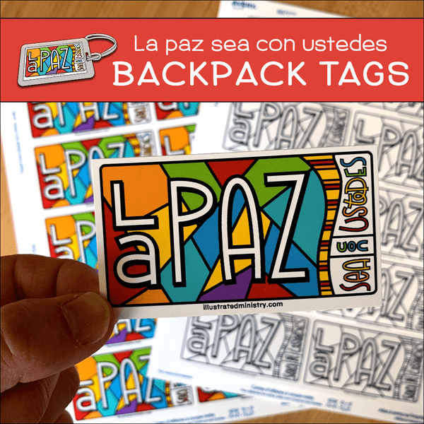 """La Paz Sea Con Ustedes"" Backpack Tags"