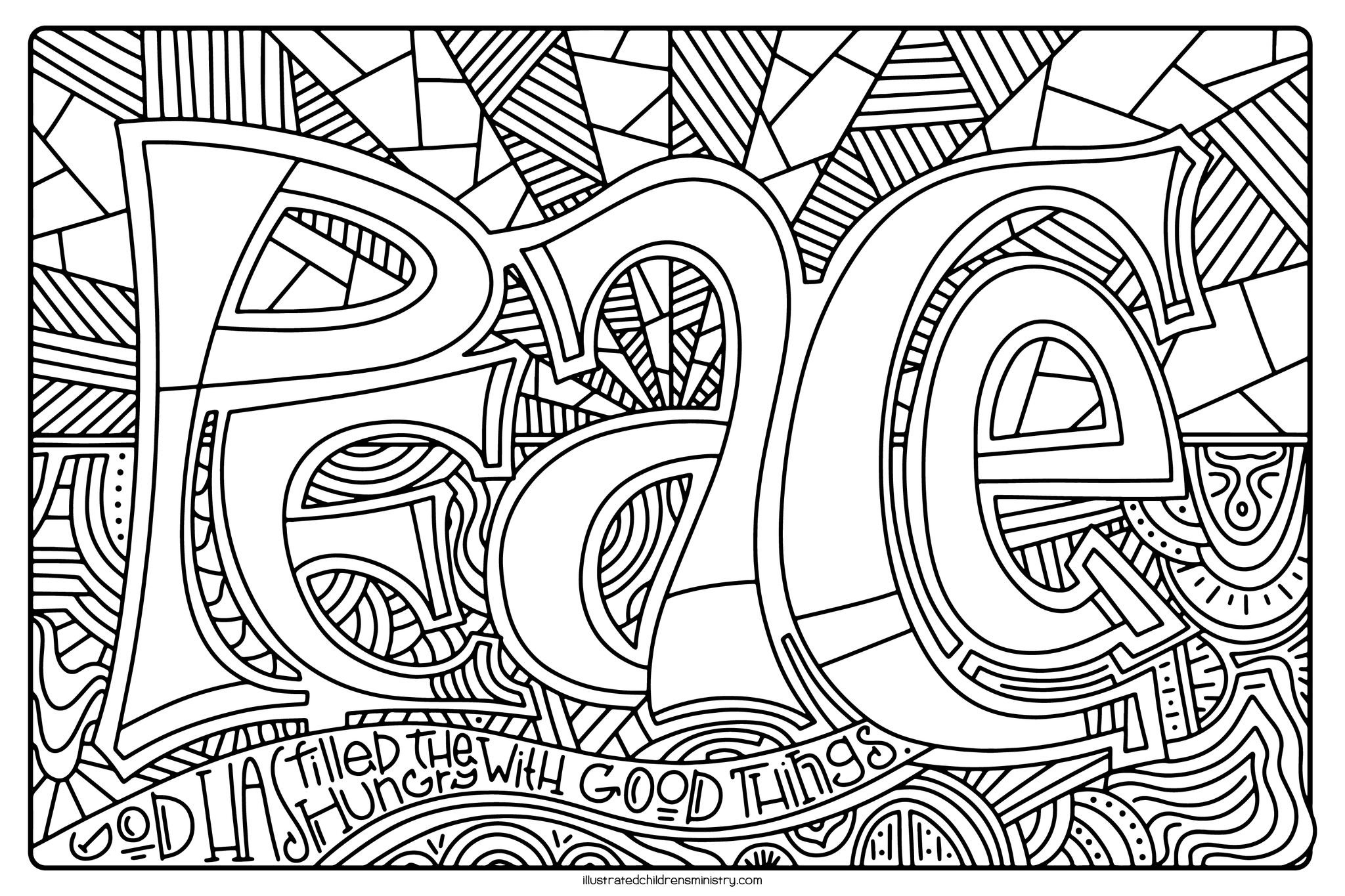 Mary's Song Coloring Page - Peace