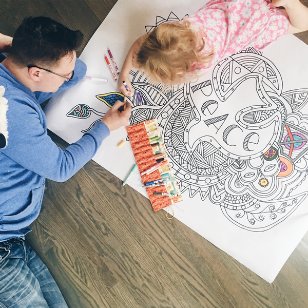 Hope, Peace, Joy, and Love Coloring Posters