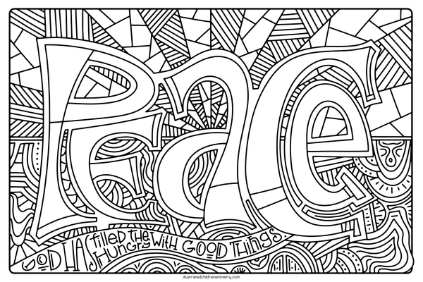 Mary's Song Coloring Pages