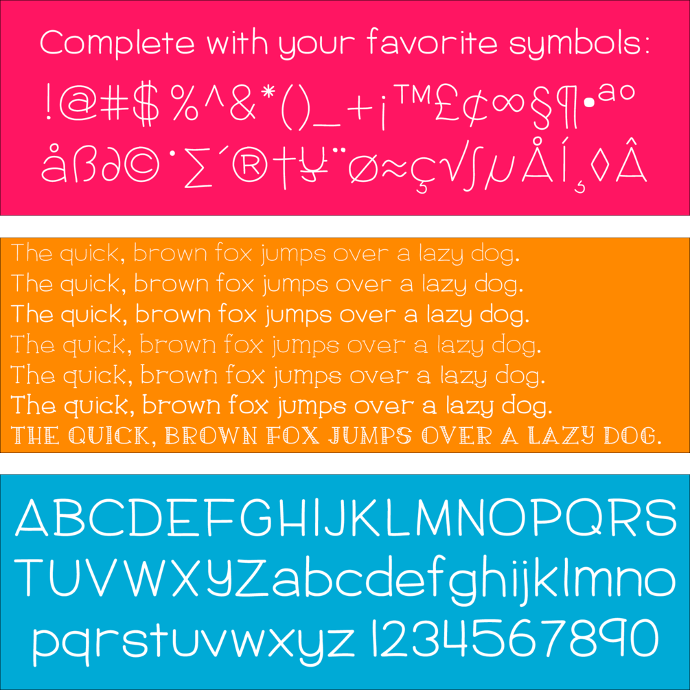 Hand-lettered 1230 Pencil Font