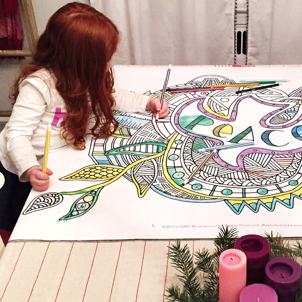 Coloring Hope, Peace, Joy, and Love Coloring Posters