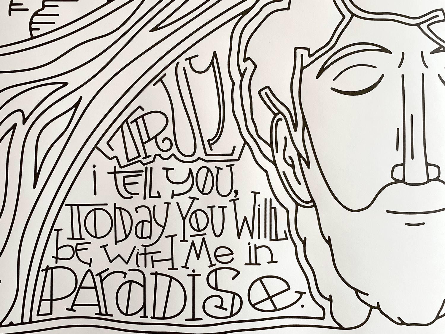Coloring poster detail for Seven Last Words