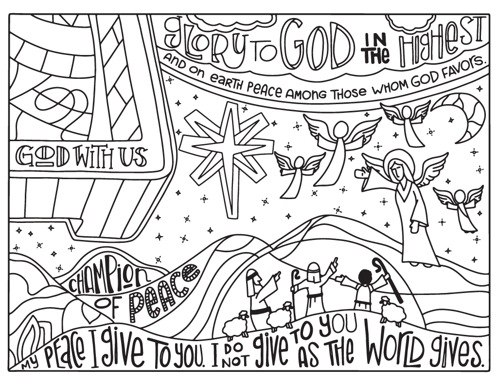 2016 Advent Coloring Pages - 8.5x11 – Illustrated Children\'s Ministry