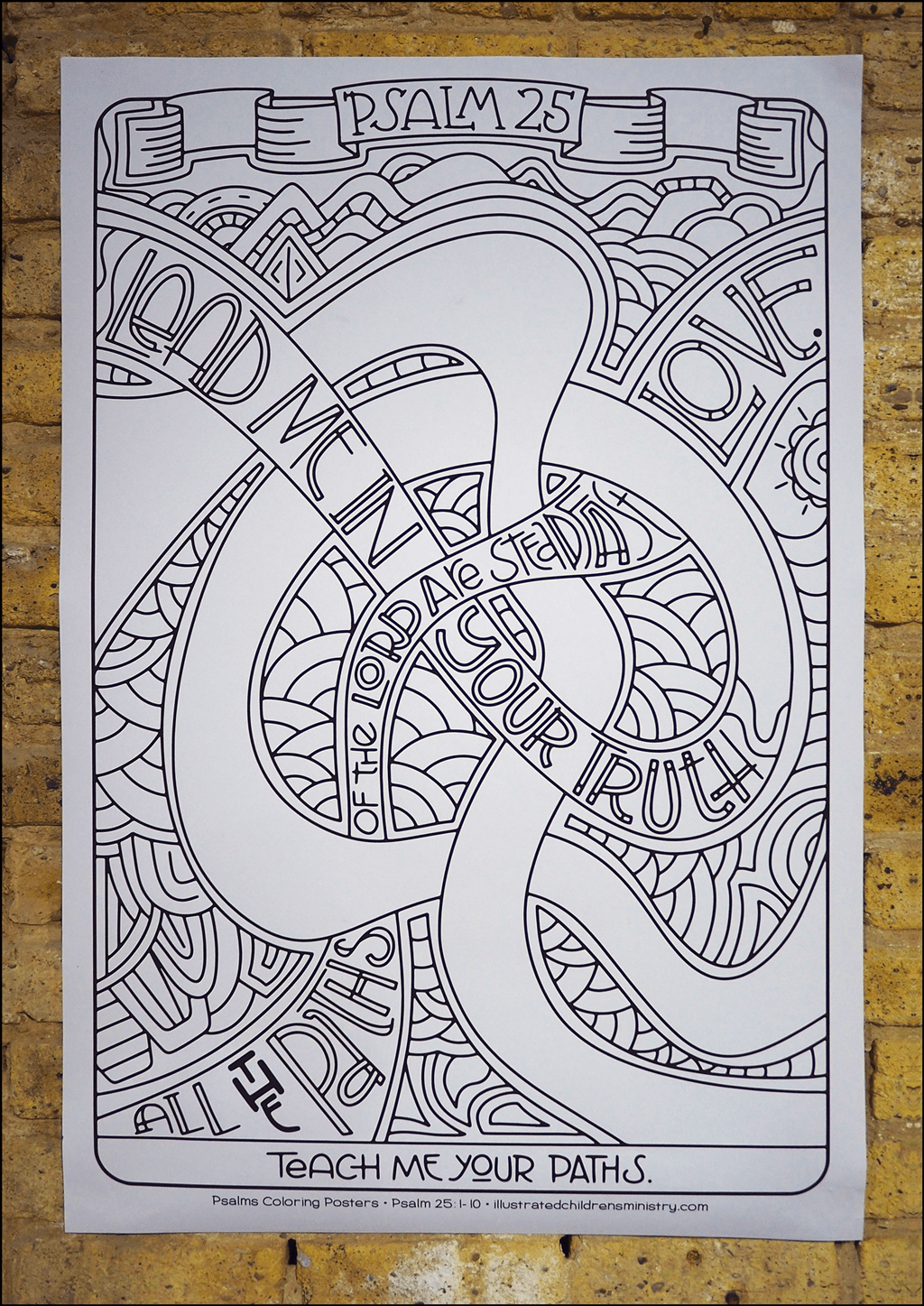 Psalms coloring poster - Lead me in your truth