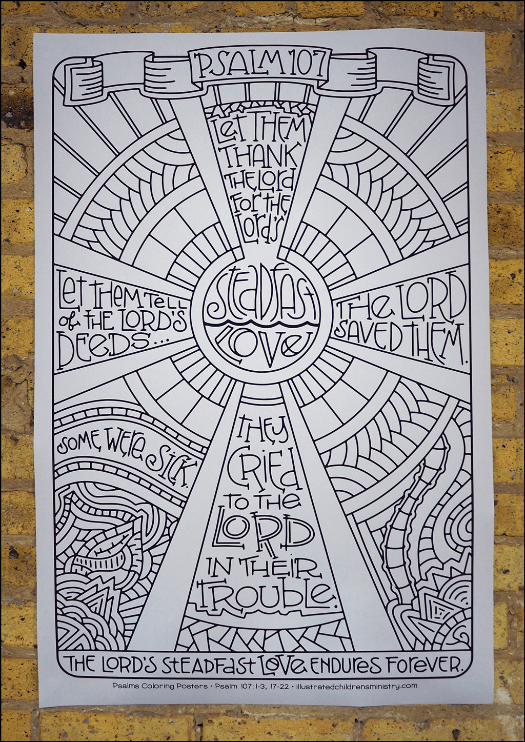 Psalms coloring poster - Steadfast love