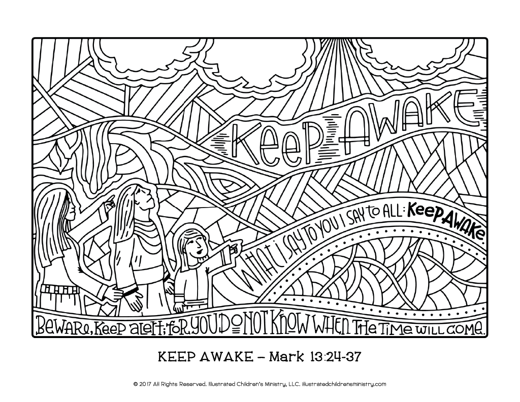 Advent Journey Coloring Pages - 8.5x11 – Illustrated Children\'s Ministry