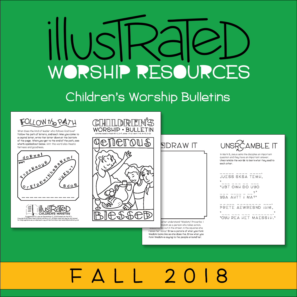 Children's worship bulletins - Fall 2018