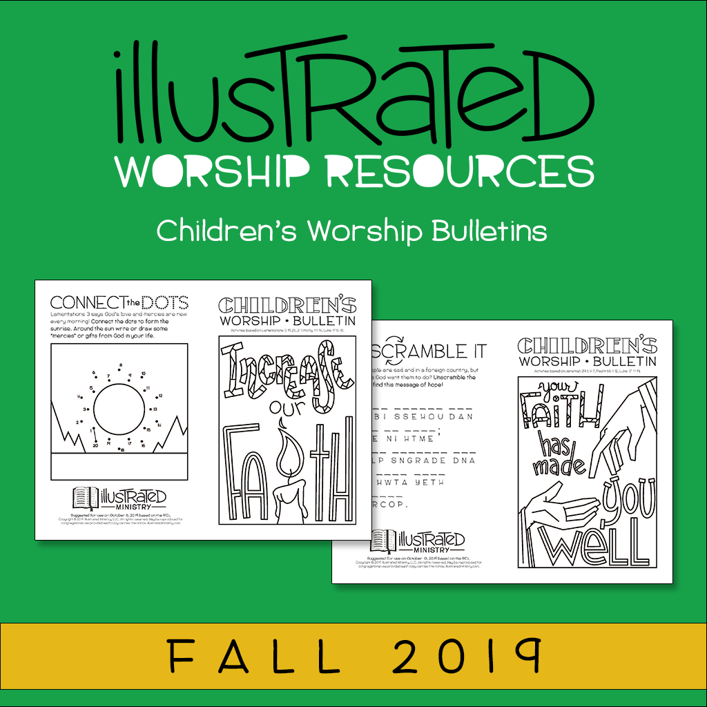 Children's worship bulletins - Fall 2019