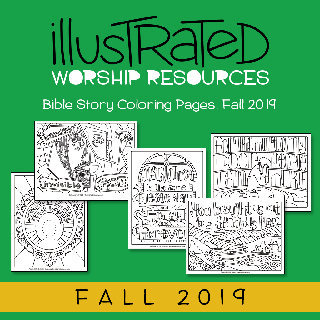 Bible Story Coloring Pages: Fall 2019 Worship Resource