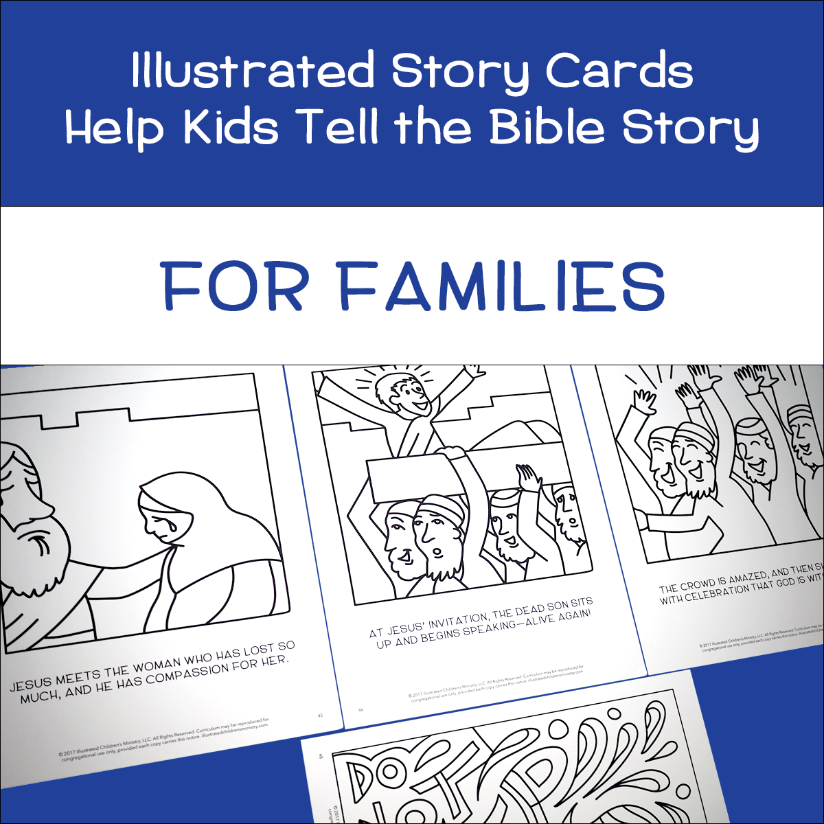 An Illustrated Compassion for Families Story Cards