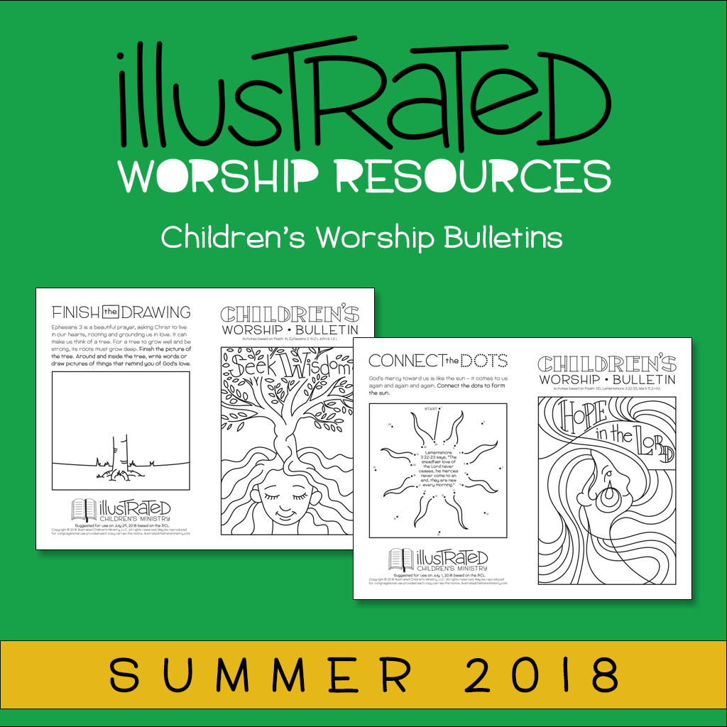 Children's Worship bulletins - Summer 2018