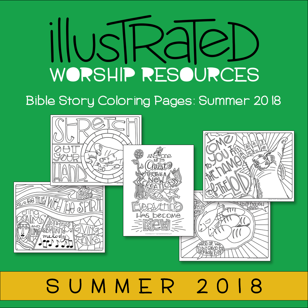 Bible story coloring pages-summer