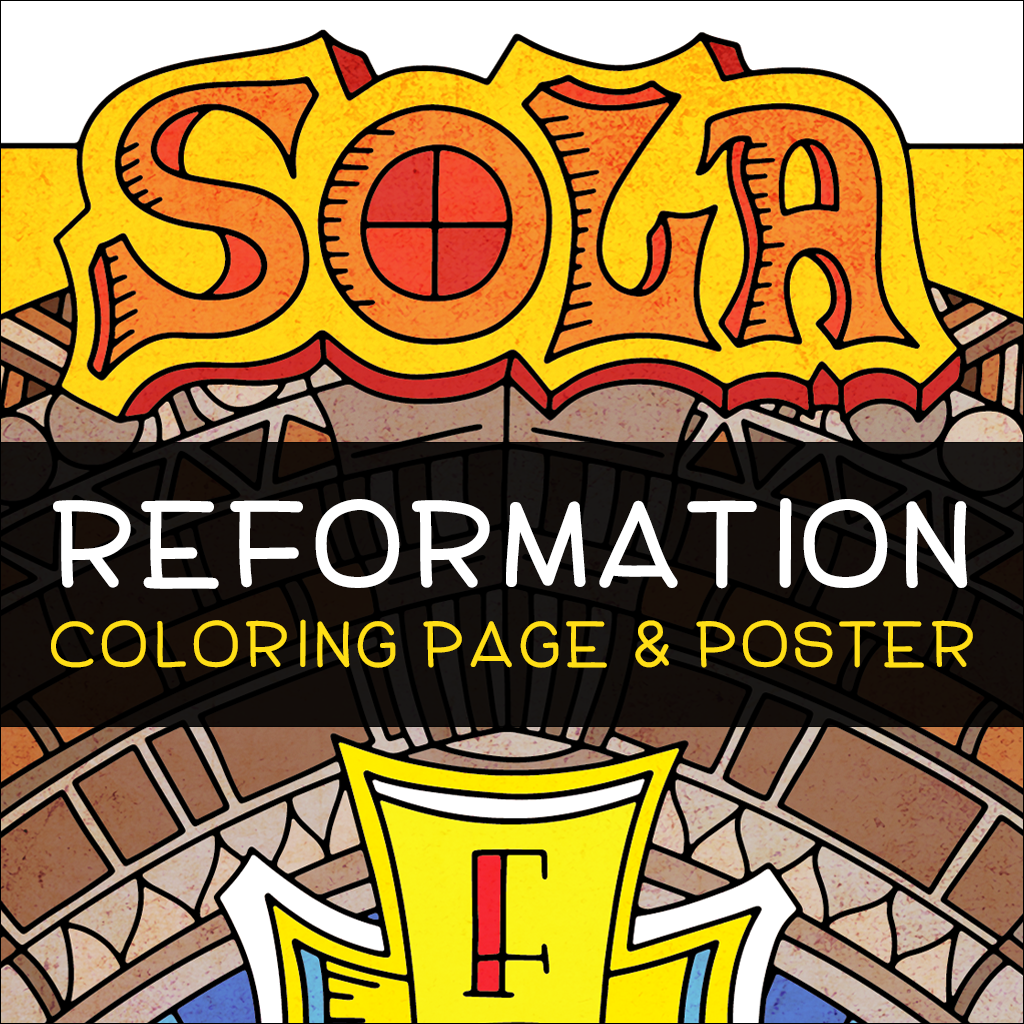 Reformation Day Coloring Page and Poster