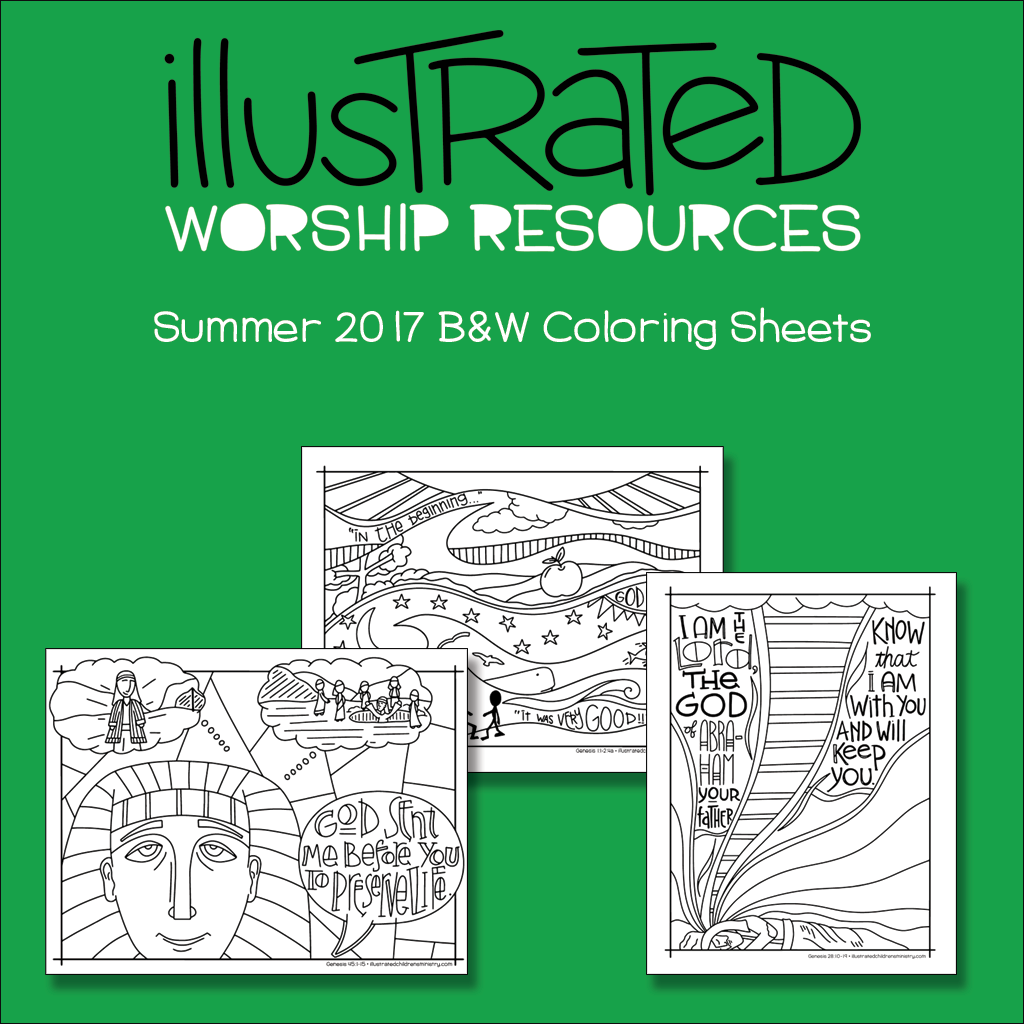Bible Story Coloring Sheets - summer