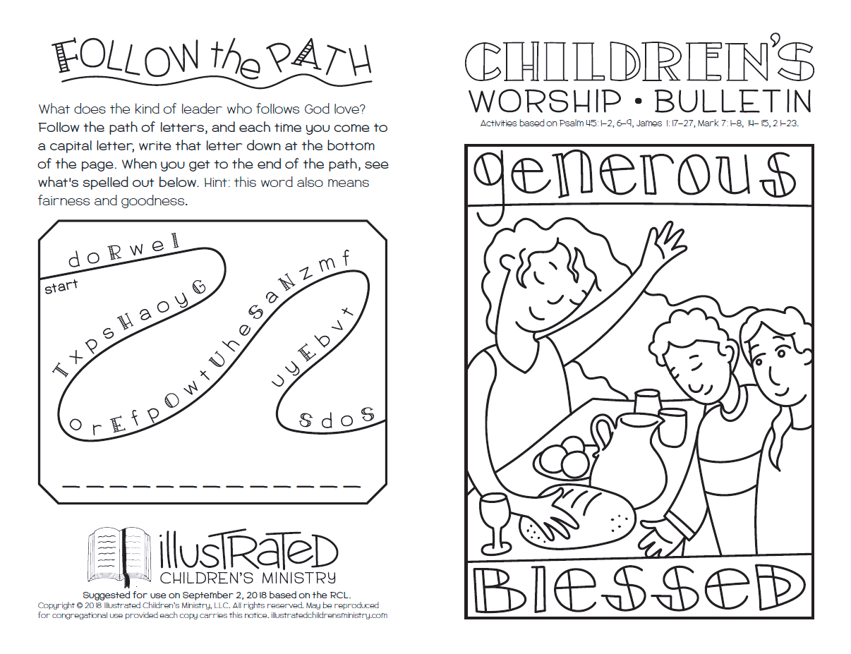 Children's worship bulletin