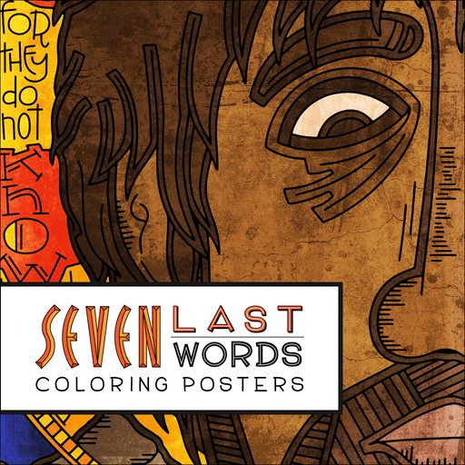 Seven Last Words Coloring Posters