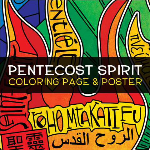 Pentecost Spirit Coloring Page & Poster
