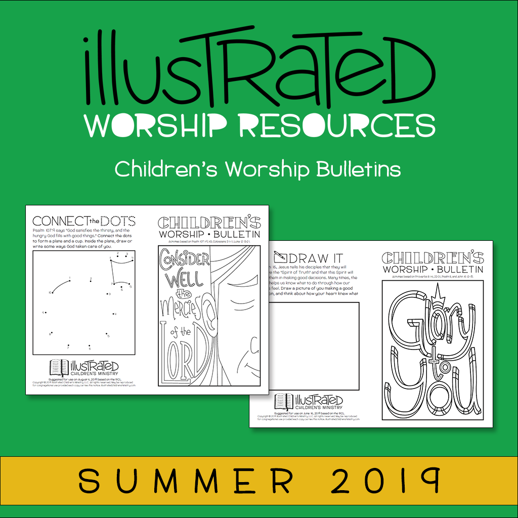 Children's Worship Bulletins - Summer 2019