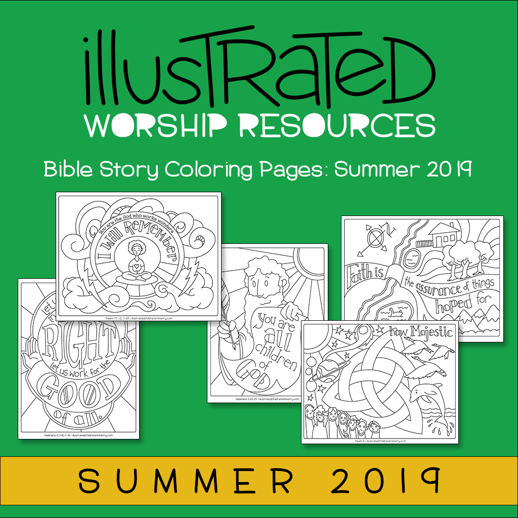 Bible Story Coloring Pages: Summer 2019