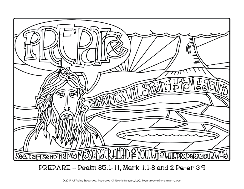 Coloring pages for john 9 -  Advent Journey Coloring Pages 8 5x11