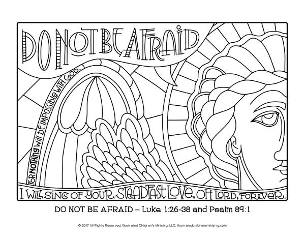 Advent Journey Coloring Pages - 8.5x11