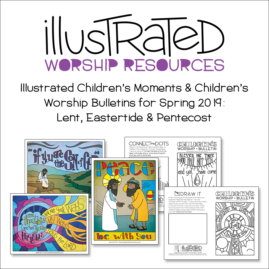 Illustrated children's moments and bulletins - Spring 2019