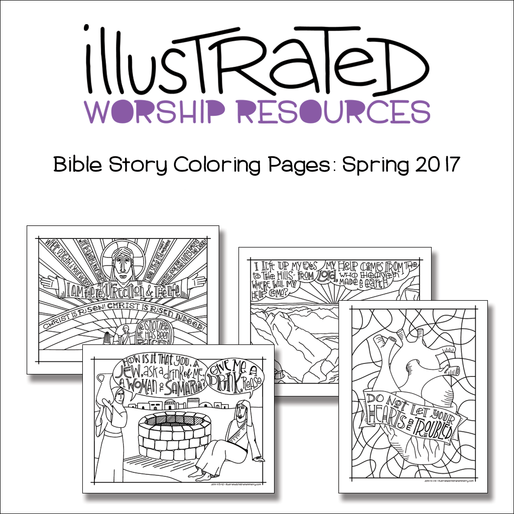 Bible Story Coloring Pages-Spring