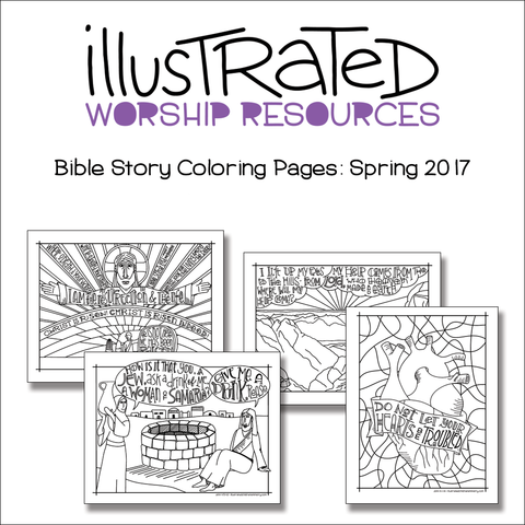 Bible Story Coloring Pages: Spring 2017