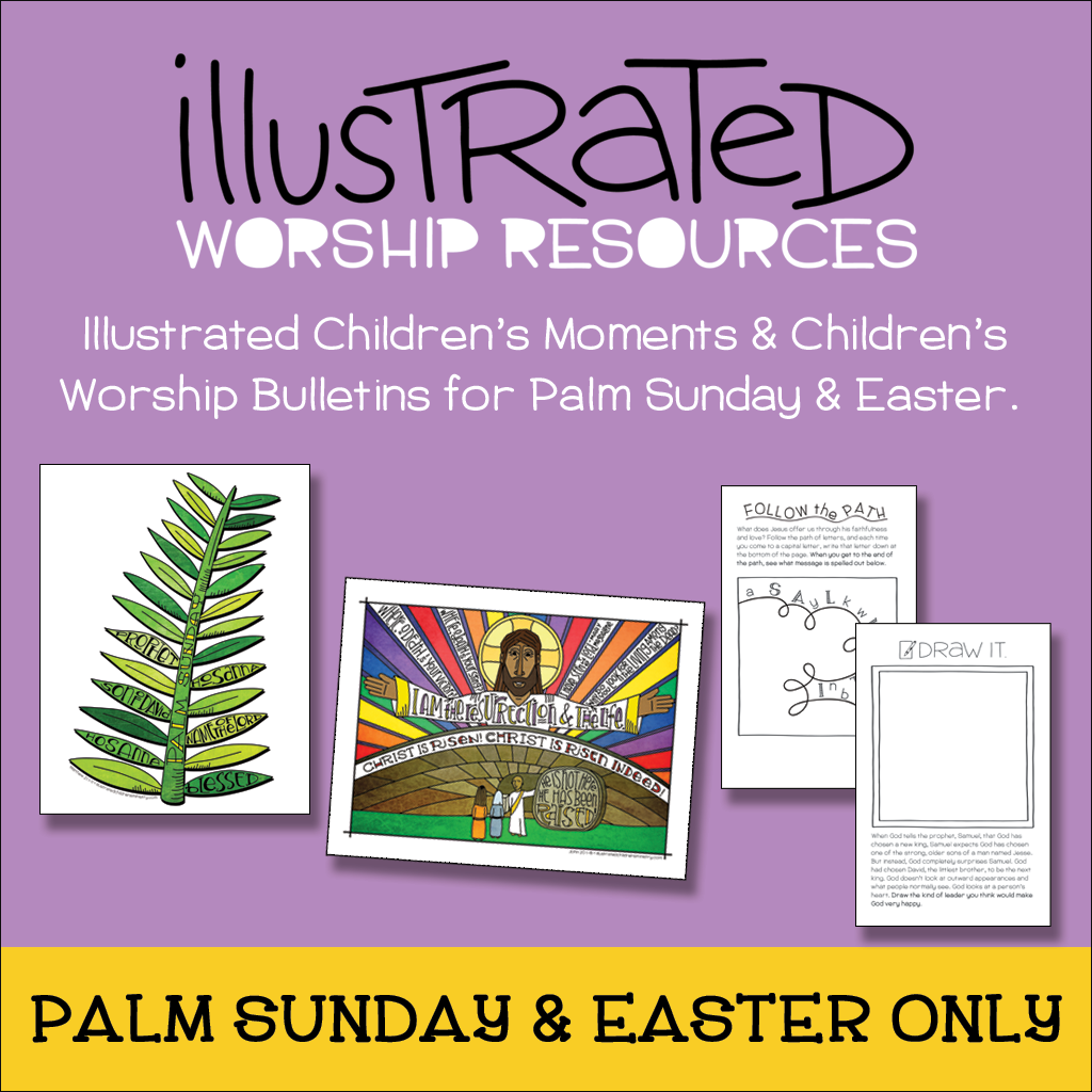 Children's moments and bulletins for Palm Sunday and Easter