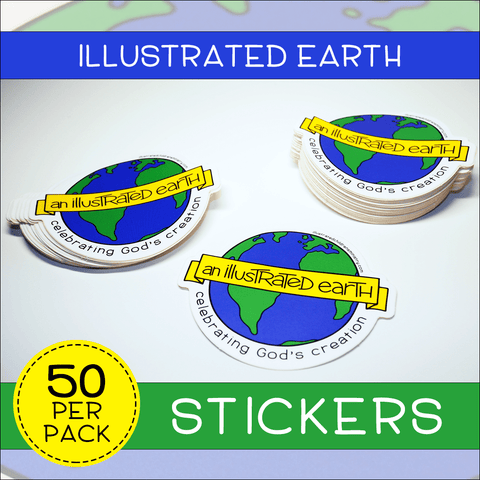 Illustrated Earth Stickers