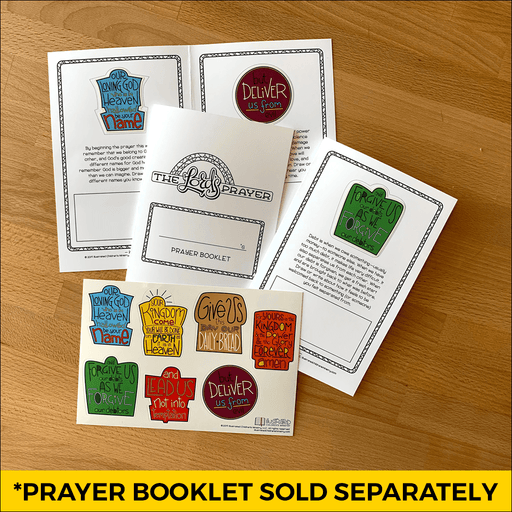 Stickers and Prayer Booklet to teach the Lord's Prayer