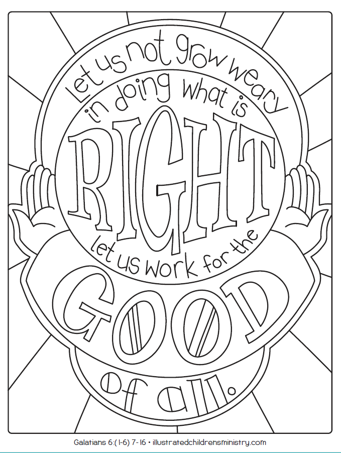 B&W illustration - let us work for the good of all
