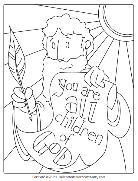 Bible Story Coloring Pages Summer 2019 Illustrated